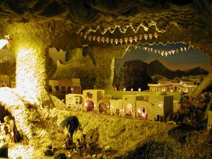 Presepe Biblico di Baggio :: Scena della Natività (particolare)