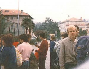 Partenza per gita ad Alpe Pianello - 1983