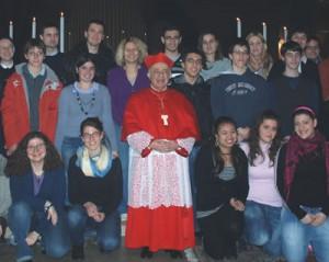 I giovani di Baggio con il Cardinale