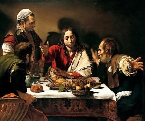 "Caravaggio, ""Cena in Emmaus"""