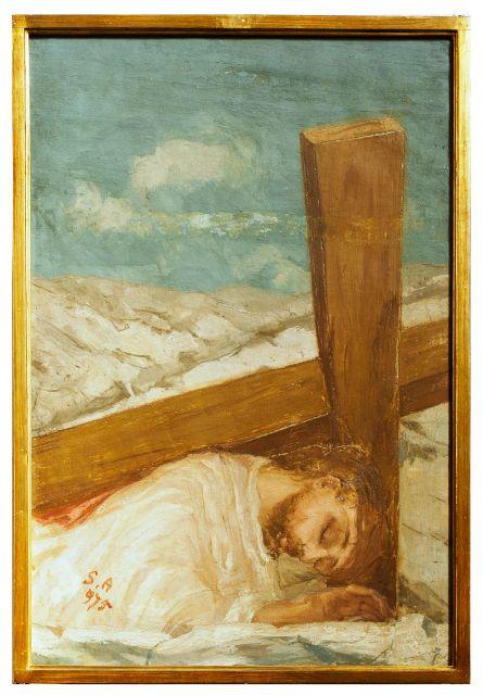 Station III - Jésus tombe pour la première fois sous la croix dans images sacrée III_stazione
