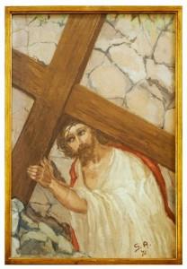 II stazione - Gesù è caricato della croce