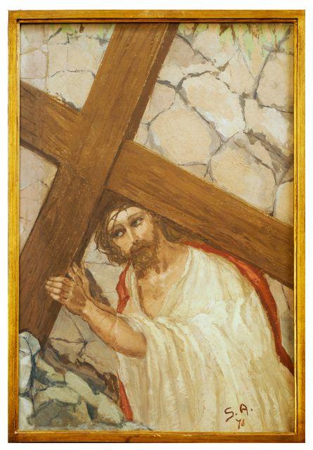 II stazione - Gesù è caricato della croce dans immagini sacre II_stazione