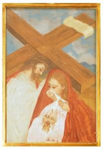 VI stazione - Il volto di Gesù è asciugato dalla Veronica