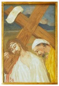 V stazione - Gesù è aiutato dal Cireneo