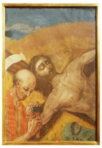 XI stazione - Gesù è inchiodato in croce